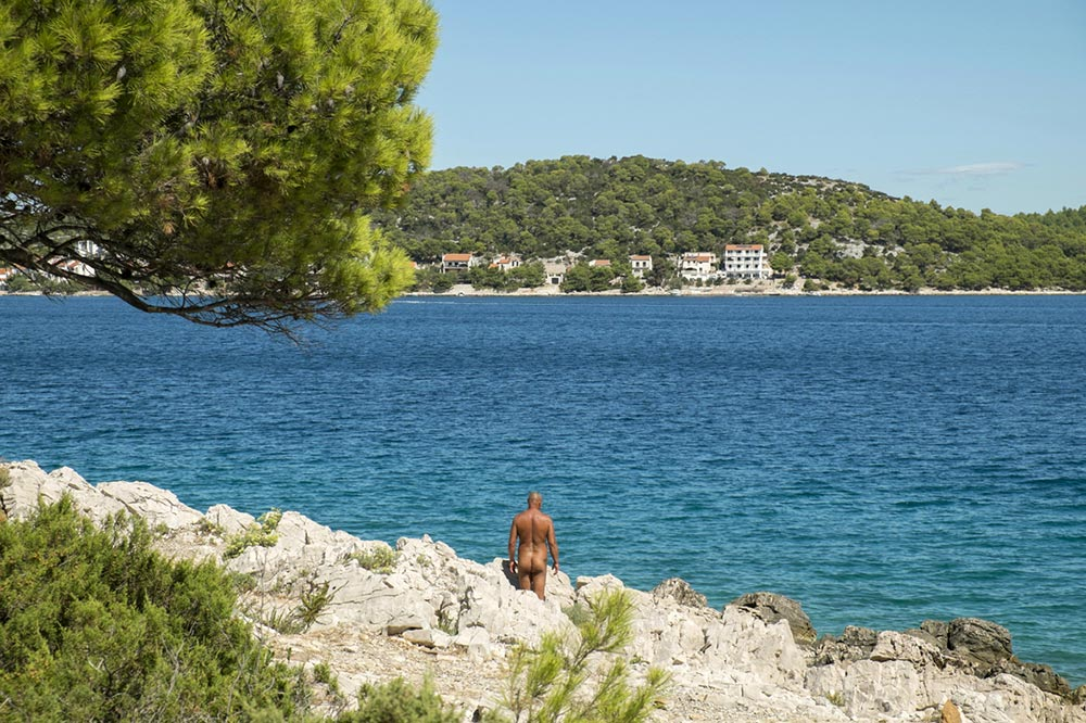 Nudist beach, Croatia