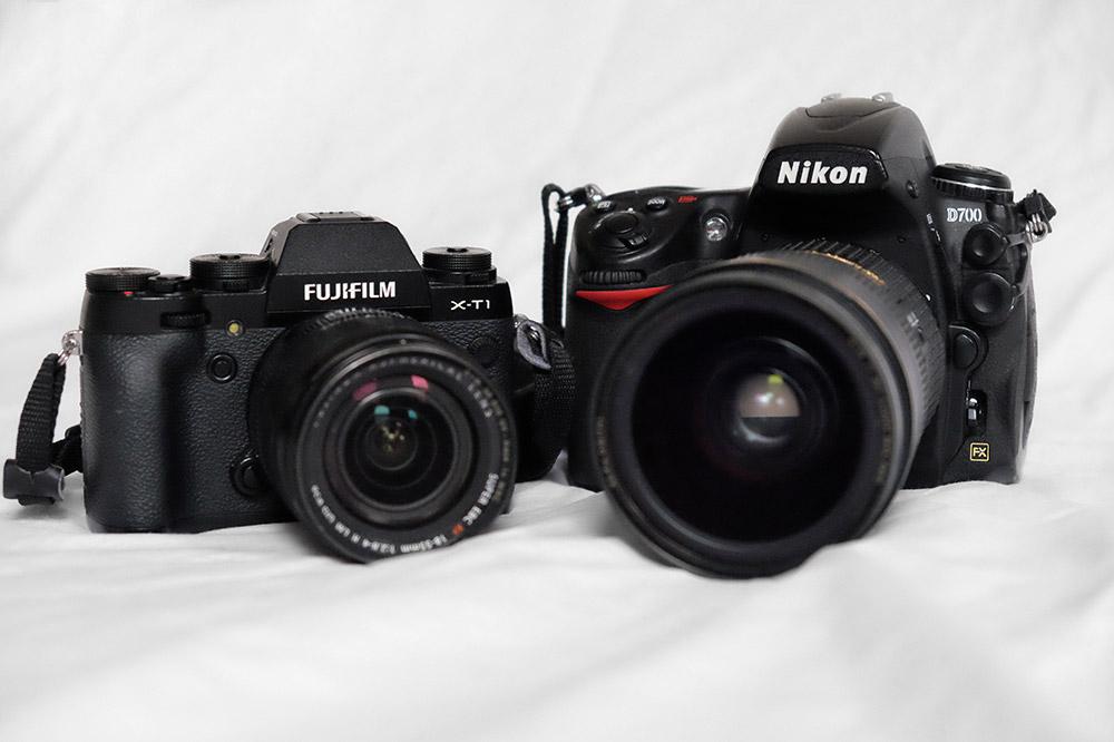 Fuji X-T1 and Nikon D700