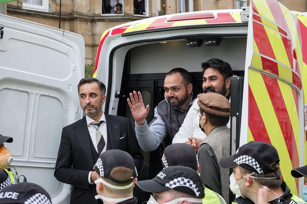 Home Office deportation attempt in Pollokshields, Glasgow